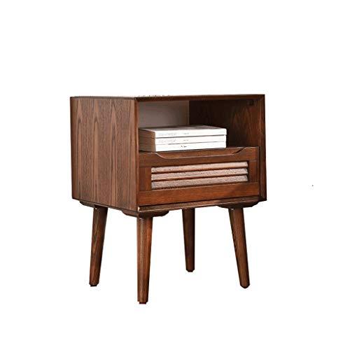 TXXM Nachttisch Schlafzimmer Spind, Schlafzimmer Nachttisch, Wohnzimmer Locker, Wohnzimmer Sofa Seitenschrank (Color : Walnut Color)