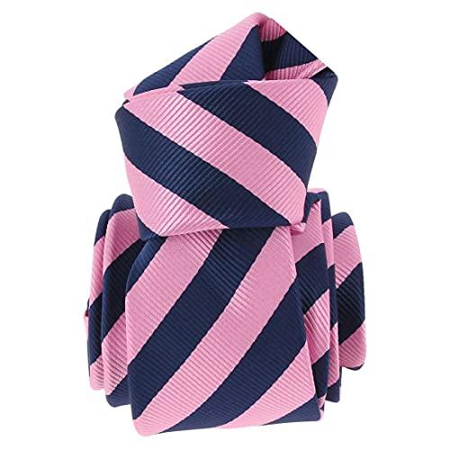 Clj Charles Le Jeune. Cravate. RUGBY, Microfibre. Rose, Club/rayé.