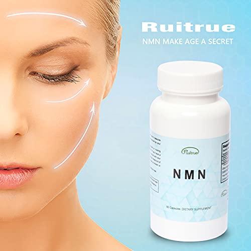 419RbG0IP S. SL500  - Ruitrue NMN Nicotinamide Mononucleotide Supplement NAD Supplement Life Extension NMN Content 150mg per Capsule Anti Aging Supplement Longevity Vitamins (1 Pack 60 Capsules)