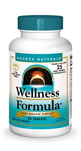 Source Naturals Wellness Formula Bio-Aligned Vitamins & Herbal Defense - Immune System Support Supplement & Immunity Booster - 45 Tablets