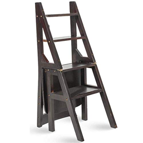 Multi-Function Ladder Stool Home Solid Wood IKEA Children Folding Chair Province Space Dual-use Four-Step Ladder Ascending Ladder for Kitchen Outdoor