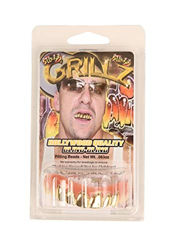 Billy Bob Grillz Dents Faux (Taille Unique, Platine)