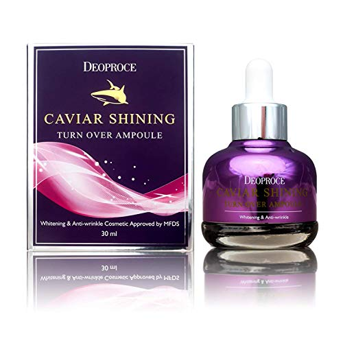 Deoproce Caviar Shining Turn Over Korean Ampoule Serum for Anti-Aging,Rejuvenation, Restoring Glow and Elasticity