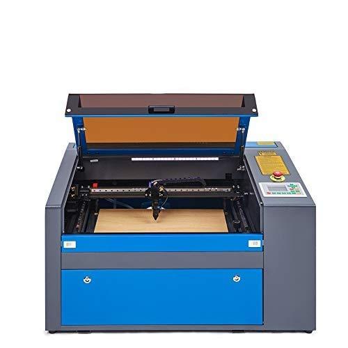 Valens 50W Macchina per Incisione Laser CO2 Incisore Laser Stampante Laser Engraver Regolabile con Porta USB Universale Display LCD Punto Rosso RDworks Software (50W 300 X 500MM)