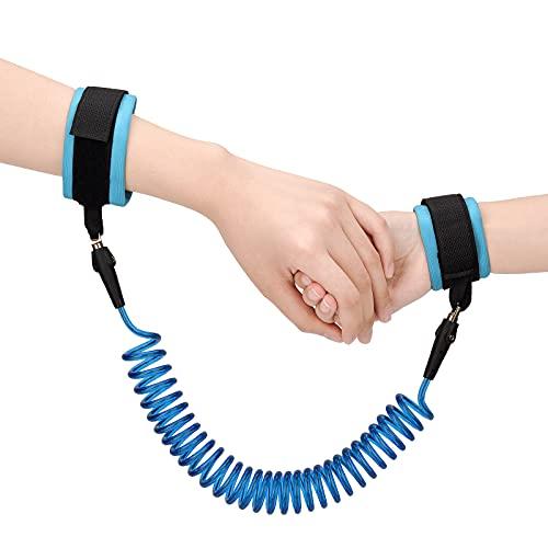 Arnes para Bebes y Niños, Rotación de 360 Grados Correa de Muñeca Antipérdida para Caminar y Compras, Azul