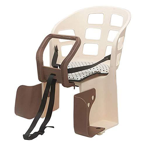 wangt kinderzitje voor op de fiets en babyzitje, rugkussen voor kinderen van 2-5 jaar oud, voetpedaal, met rugleuning, 44 x 42 cm