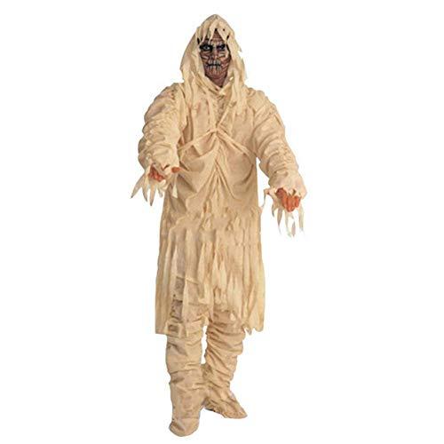 ERFD&GRF 1 Piezas de Disfraces de Halloween para Adultos Zombie Momia Cosplay Ropa Spooky Fancy Dress