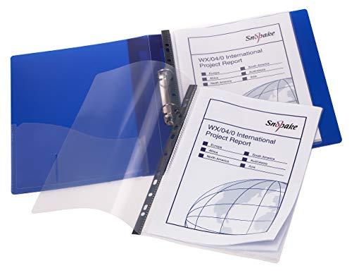 Snopake A4 Sichtbuch (je 20 Hüllen, Ringbuchmechanik) 5 Stück transparent