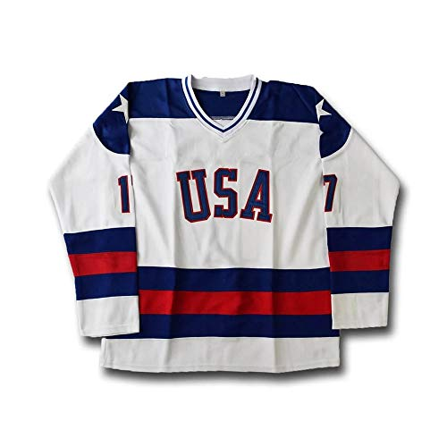 Jack O'Callahan #17 Men's Ice Hockey Jersey USA Stitched S-5XL (White, M)