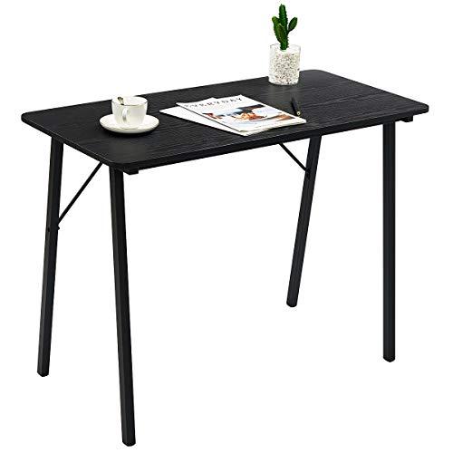Furnish 1 Schreibtisch Klein Computertisch Eckschreibtisch PC-Tisch Bürotisch Schwarz TS-ideen-Escritorio de Esquina (tamaño pequeño), Color Negro, 100x48x74cm
