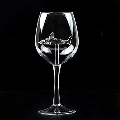 CHENXQ ingebouwde haai wijn glas glas whisky glas diner versieren handgemaakte kristallen partij fluiten glas