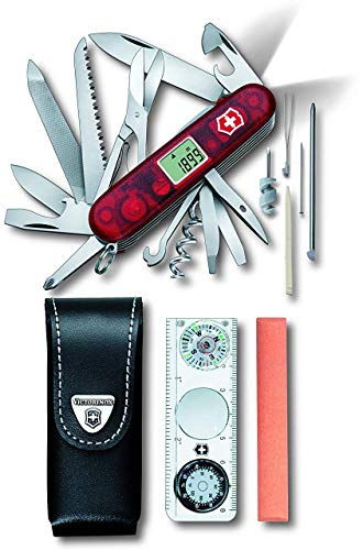Victorinox Taschenmesser Expedition Kit (45 Funktionen, Klinge, Digitalanzeige, LED) rot transparent