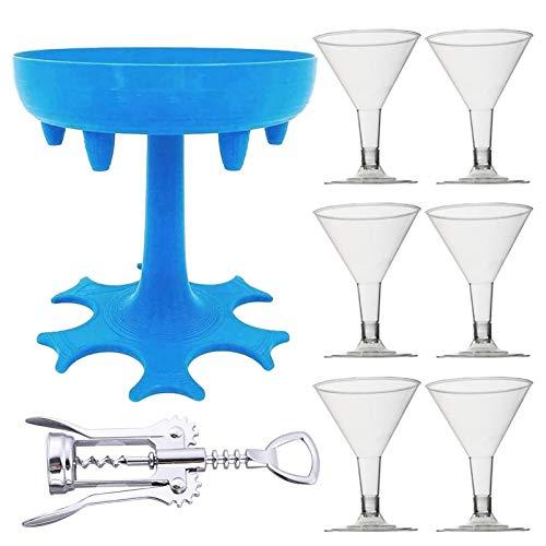 brightsen 6 vasos de chupito dispensador y soporte set de llenado de líquidos dispensador de cócteles para beber, herramienta práctica para fiesta de cócteles juntos, niñas fin de semana