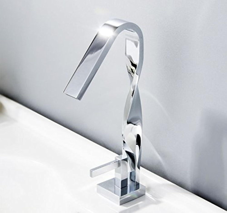 CZOOR Twist Waschbecken Armatur Waschbecken Wasserhahn Messing verchromt Kran Wasser Mixer einzigen Griff Waschbecken Mischbatterie Torneira, 690-11 C