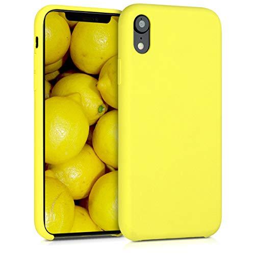 Kwmobile Cover compatibile con Apple iPhone XS Max - Giallo fluorescente