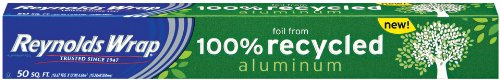 Reynolds Wrap Aluminum Foil from 100% Recycled Aluminum, 50-Square Feet (Pack of 5)
