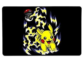 Nurdtyme Pikachu Pokeball Large Mouse Pad Pop Culture Inspired 10  x 16  x 1/8 Desk Mat
