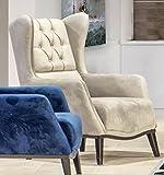 Casa Padrino sillón orejero Chesterfield Gris/Negro 80 x 80 x A. 90 cm - Sillón de salón Moderno - Mobiliario Chesterfield - Mobiliario de Salón