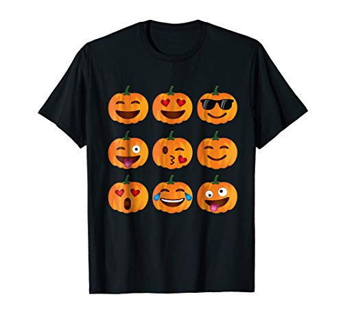 Pumpkin Emoji T-Shirt, Pumpkin Shirt Emoji Halloween Costume