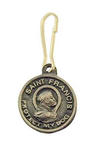 Medalla de Peltre con inscripción Saint Francis of Assisi Protect My Dog, 3/4 Pulgadas