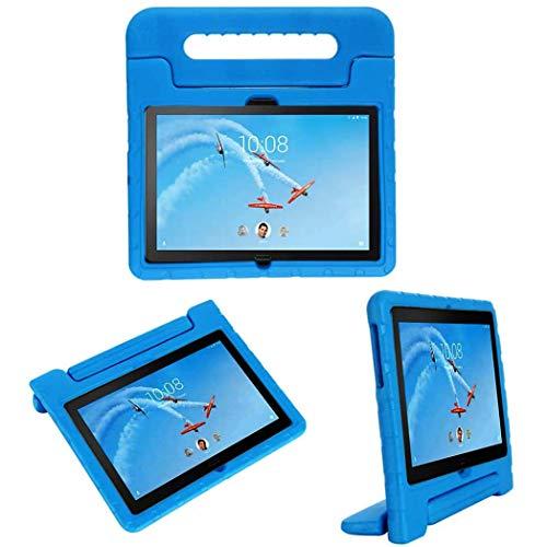 iMoshion kompatibel mit Lenovo Tab P10 Hülle – Tablethülle für Kinder – Tablet Kids Case in Blau mit Handgriff und Ständer [Robust, Griffig, Stoßfest]