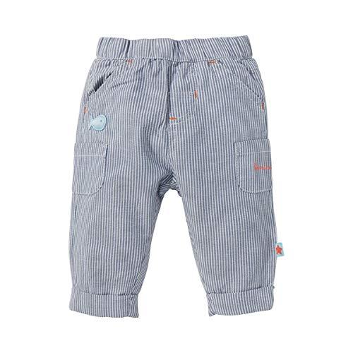 Bornino Pantalon pantalon bébé, écru/bleu
