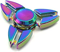 JUNAN Metal Rainbow Fidget Spinner Toys, Hand Spinners Toy Can Spin 1-3 Min Stress Reducer High Speed Bearing for Adult Children,Office Desk Gadget,Outdoor