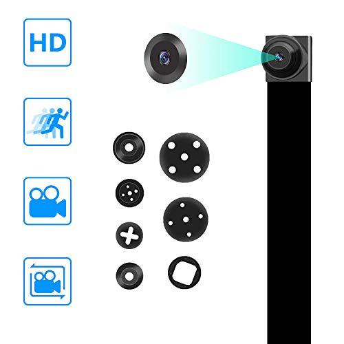 Mini Cámara Espía Oculta 1080P DIY Portátil Encubierta Niñera Seguridad del Video con Detección de Movimiento para el hogar,Coches,Aviones no tripulados,la Oficina (NO incluir la Tarjeta de Mirco SD)