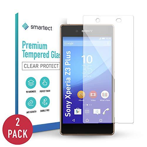 smartect Pellicola Protettiva per Sony Xperia Z3 Plus [2 Pezzi] - 9H Vetro Temperato – Design Ultra Sottile – Applicazione Anti-Bolle – Anti-Impronte