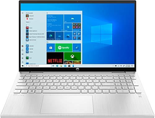 HP Pavilion x360 15-er0055ng (15,6 Zoll / Full HD IPS Touch) 2in1 Convertible Laptop (Intel Core i5-1135G7, 8GB DDR4 RAM, 512GB SSD, Intel Iris Xe Grafik, Windows 10, QWERTZ) silber