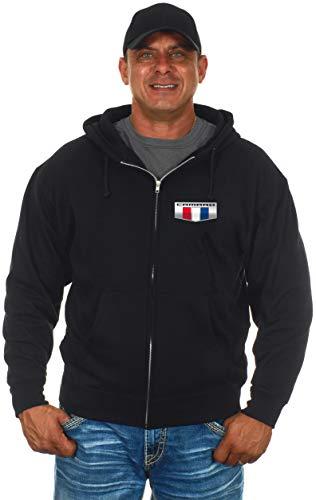JH Design Chevy Camaro Herren Kapuzenpullover und T-Shirt, mit Reißverschluss - Schwarz - Groß