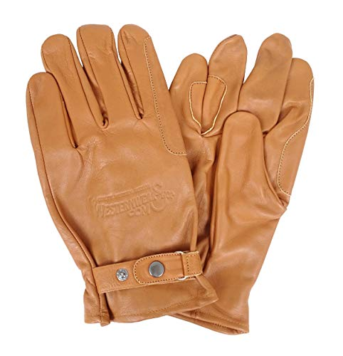 Westernwear Westernhandschuhe & Reithandschuhe Nappaleder Unisex Westernhandschuhe Reitsporthandschuhe Lederhandschuhe Cowboy Leather Gloves Outdoor Braun (XL)