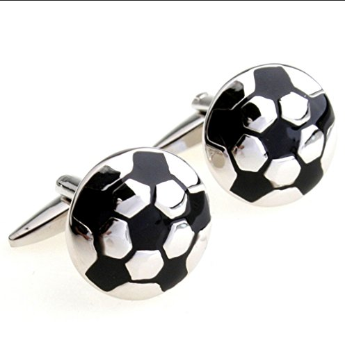 iLifestyle Football Soccer Ball Cufflinks for Football Players Soccer Fans French Shirt Cuff Buttons with Gift Bag