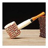 HenShiXin Einzigartige Persönlichkeit Maiskolben Stil Zigarette Tabak Pfeifen Rauchen Geschenk Zigarettenhalter Mundstück Zubehör Halter (Farbe: gelb)