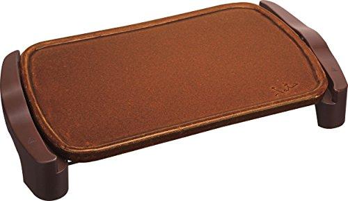 Jata GR559 - Plancha de asar de terracota. Superficie: 46 x 28 cm. Fabricada en España. No se raya. Fácil limpieza