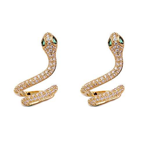 Wollaston - Pendientes de serpiente para mujer y niña