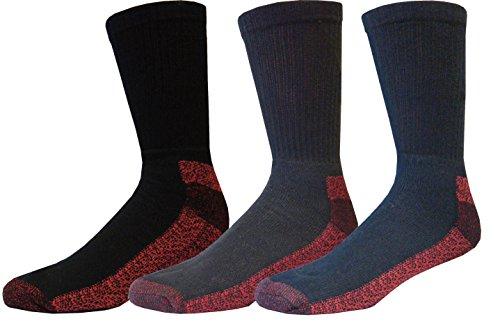 Dickies 6|9|12 Paar Arbeitssocken in mehreren Farben & zwei Größen (6 Paar Schwarz, 41-45)