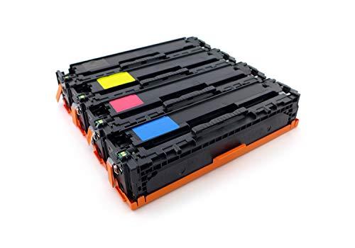 Green2Print Tóner Toner Set, 4 Cartuchos 5900 páginas sustituye a HP CE320A, 128A, CE321A, 128A, CE322A, 128A, CE323A, 128A, CF371AM, 128A Tóner Apto para la HP Laserjet Pro CM1415FN, CM1415FNW,