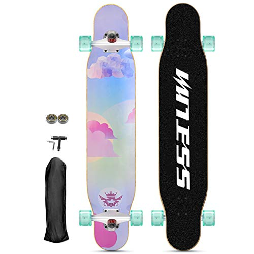 qwert Longboards Skateboard Drop-Through Skaten Cruiser Boards 46