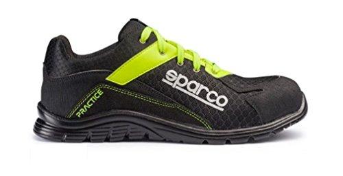 Sparco 0751743NRGF Zapatillas, Negro/Amarillo, 43 ✅