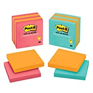Post-it Pop-up Notes,  America's #1 Favorite Sticky Note, 3 in x 3 in, Assorted Colors, Pack of 1 (3301-5ALT-M)