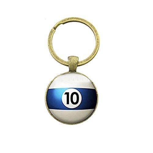 Llavero de la piscina número 10 deportes de tenis de mesa bola...