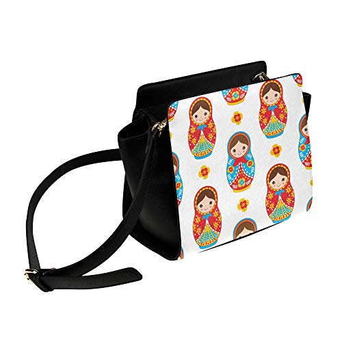 Russian Nesting Matryoshka Doll Satchel Bag Crossbody Bags Travel Tote Bags Duffel Strap Shoulder Bags Luggage Organizer For Lady Girls Womens Work Shopping Outdoor