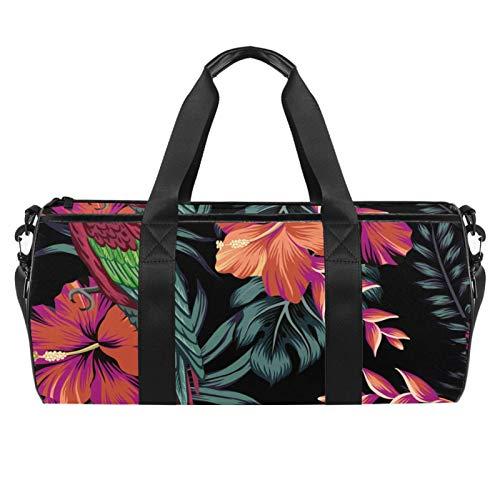 Aras, Papageien, Sporttasche, zylindrisch, Reisetasche, Reisetasche mit Nassfach, leichte Trainingstasche, Reisen mit Schultergurt für Männer und Frauen