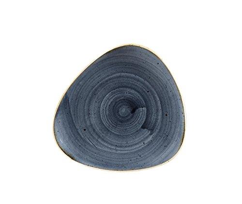 Churchill Stone Cast Blueberry triangolare piatto, 19,2cm, 12pezzi