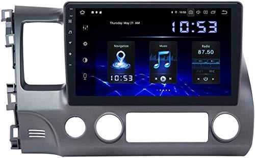 Auto Stereo AUDIO PLAYER DOPPIO DIN FM Radio Android 10.0 SAT Nav LCD Monitor 10 Pollici Touch Screen GPS Navigazione Compatibile Per Honda Civic 2006-2011,8 core 4G+WiFi 2+32GB