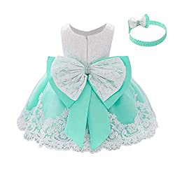 Light Green Color Tutu Dress With Rhinestones for Baby