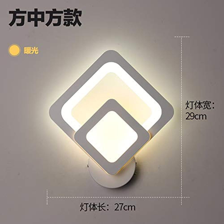 Fangfang908 Wohnzimmer Studie Einfach Und Warm Niedlich Nachtwandleuchte Quadratisches Modell - Gelbes Licht, 29Cm  27Cm