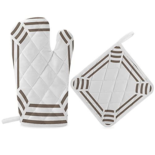 Cool - Guantes antideslizantes para horno de microondas resistentes al calor con dedos Kichen, diseño original, diseño mágico, para adultos, hombres, mujeres, niños, niñas, amigos, unisex