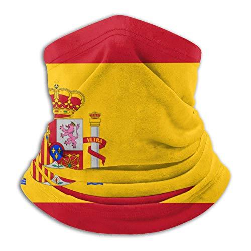 Duang Multifunctionele doek gezichtsmasker Spaanse vlag kinderen werken bandana unisex halsverwarmer hals gamasche fietsen bivakmuts buiten 30 x 25 cm volwassenen veelkleurig multifunctioneel